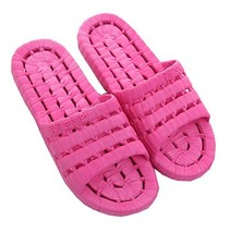 PANDA SUPERSTORE Women Rose Red Hollow Non-Slip Shower Slippers Summer Home Sand