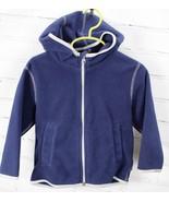 Hanna Andersson Fleece Full Zip Hooded Jacket Youth Boys 90 / 3T  Blue H... - $29.70