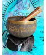 Tibetan 3 Inch Singing Bowl w/ Striker with Black Cushion Made of 7 Metals - $21.55