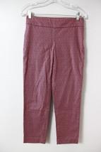 Ann Taylor Loft Skinny Capris Crop Pants Sz 0 Marisa Fit Pink Black Diam... - $13.55