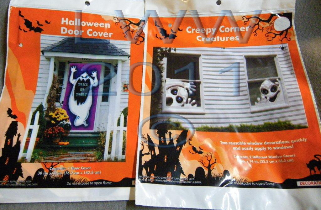 Primary image for Halloween Ghost Door Cover and Creepy Creature window corner decorations