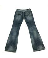 Harley Davidson Low Rise Bootcut Jeans Womens Size 4 Distressed Stone Wa... - $36.83