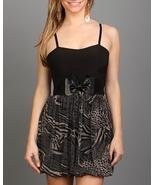BLACK/BEIGE BABYDOLL DRESS BELT INCLUDED SIZE SMALL - $14.99