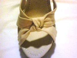 NEW SLEEK BEAUTIFUL Platform heels Off-white Beige Slides Slip-On  image 4