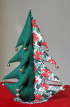 "Giant Christmas Tree (stuffed) bells star unique Item 18"" tall Great Gift Idea image 1"