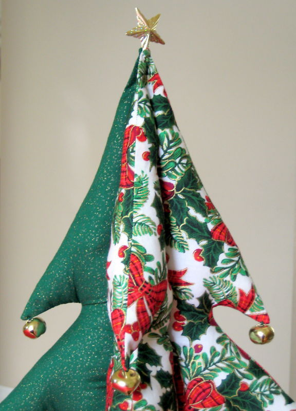 "Giant Christmas Tree (stuffed) bells star unique Item 18"" tall Great Gift Idea image 2"