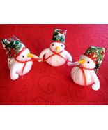 "Snowman Trio fleece  fabric stuffed 16""x6.5""  - $39.95"