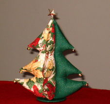 """Christmas Tree stuffed bells star top Unique Gift 8""""x11"""" from handmade pattern image 2"""