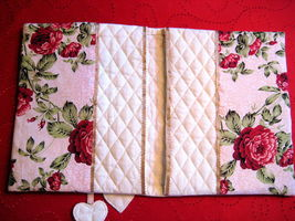 """Vintage Cook Book Cover 11""""x18"""" uncommon Gift Idea Floral design handmade image 2"""
