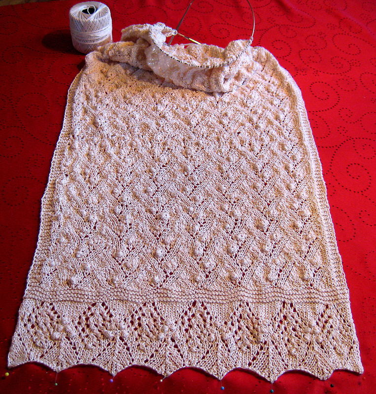 "Vintage Design Shawl 20""x60 elegant Style knitted beige Great for Church"