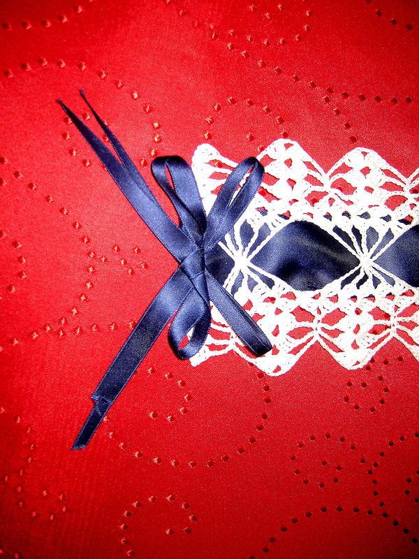 """Vintage Table-Decoration 41""""x4.5"""" crochet  image 3"""