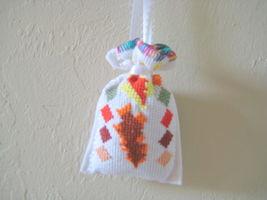 "Satchel Lavender Sack 3""x3"" needlepoint Set of 4 Unique Gift Idea or Deco image 5"