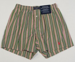 Polo Ralph Lauren Green Stripe Classic Fit Boxer Underwear Mens NWT - $26.24