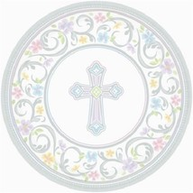 "Blessed Day 18 Ct 10.5"" Dinner Plates Baptism Confirmation Communion Chr... - $10.06"