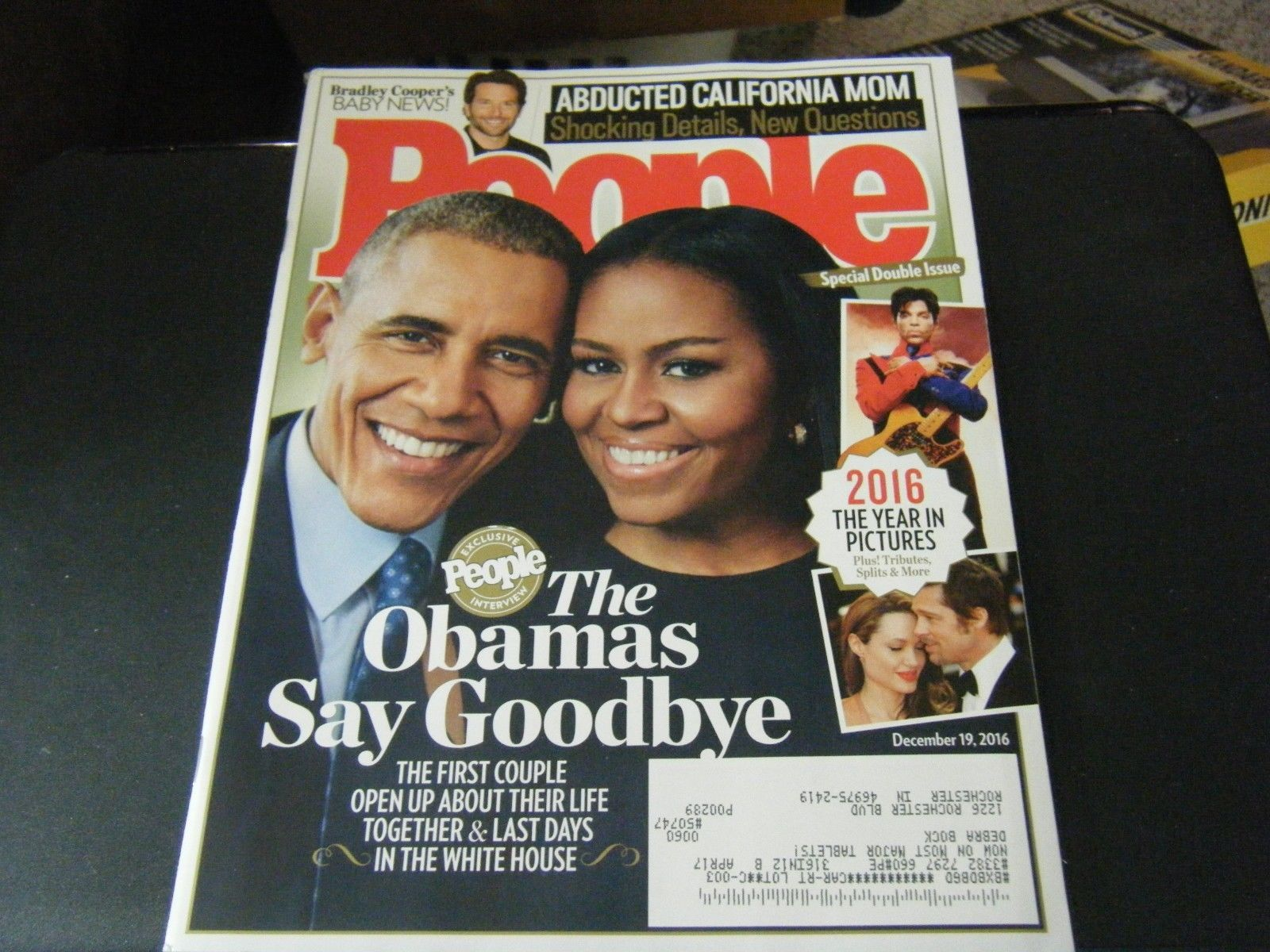 People Magazine - The Obamas Say Goodbye Cover - December 19, 2016