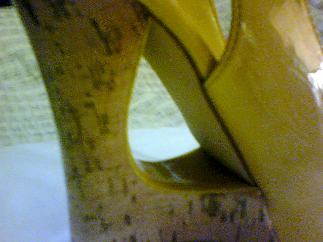 NEW BEAUTIFUL Yellow Patent Cork Platform Wedge Cut-out adjustable buckle Heel   image 4