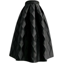 Women Dark Green Pleated Midi Skirt Outfit Pleated Party Skirt Plus Size image 7