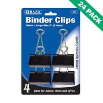 Binder Clips Black, 51mm Large Paper Binder Clips Office (4/pack) - Pack... - $55.29