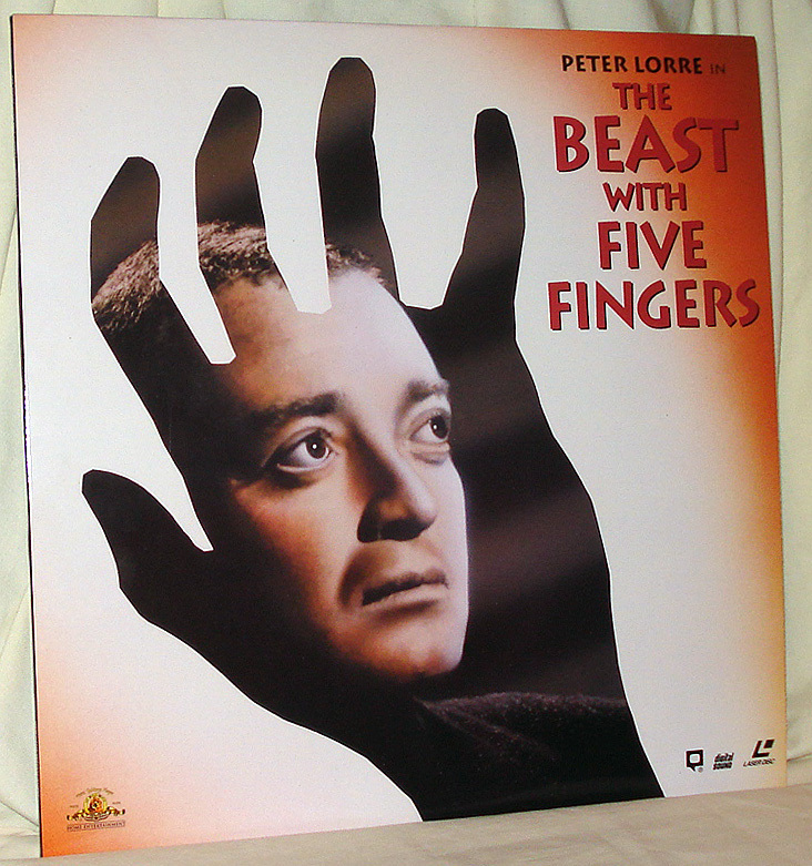 Primary image for 'The Beast With Five Fingers,' Chilling Fun With Peter Lorre on Mint Laser Disc!