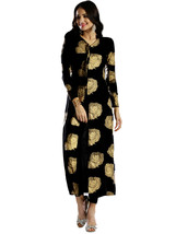 Ira Soleil black block printed all over printed viscose knitted stretcha... - $49.99