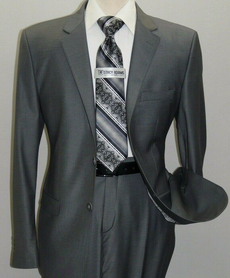 Primary image for Men Suit Massimo Rossi Turkey European Slim single breasted Soft Wool Blend Gray