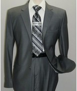 Men Suit Massimo Rossi Turkey European Slim single breasted Soft Wool Bl... - $89.97