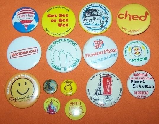 Advertising Buttons 15 Edmonton Transit