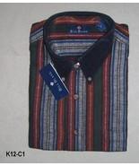 Bill Blass Size XL Black, Gray, Maroon 100% Flannel Cotton Shirt NWT - $16.99