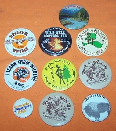 Advertising Buttons 10 Manitoba Canada