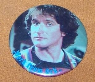 Advertising Button  Robin Williams