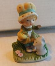 Jasco Bisque Girl with Kitten 70s - $4.99