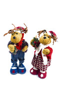 "Pair 16"" Pa And Ma Singing Christmas Reindeer Plush - $49.49"