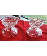 Fenton Coin Dot Glass Candle Holders - $39.99