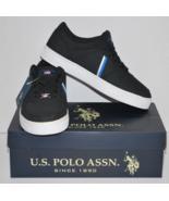 US Polo Assn. Men's Casual Sneakers Black/Royal... - $19.99