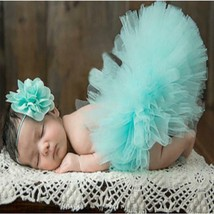 Newborn baby girls tutu 2pc set for 1st picture photo prop 341 - $10.99