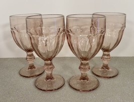 Libbey Duratuff Gibraltar Plum Light Purple Water Glass Goblet (S) Lot Of 4 Nic - $34.60