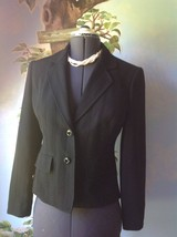 Jones New York Women's Black Pinstripe Blazer Suit Jacket SZ 4 - $29.69