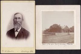 John Lees & Leesburg, FL Home (2) Cabinet Photos - Brother of Mrs. Edwar... - $34.50