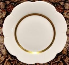 "Royal Limoges Nymphea Fleur'T Matte Gold Dinner Plate 10 3/8"" - $45.35"