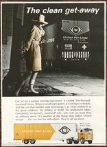 1968 United Van Lines Print Ad The Clean Get-Away Clever Spy Lady Theme - $9.95