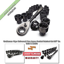 Craftsman Socket Set 3/8 inch 19pc Ratchet Wrench MaxAxess Universal Inc... - $67.00