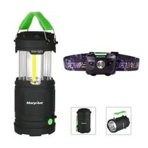 Combo: Morpilot Portable LED Camping Lantern with Flashlight 7 Modes amp... - $18.74