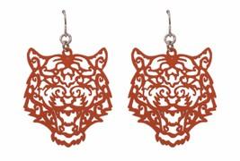 "Ornate Tiger Dangle Earrings 1.5"" Long Orange Tigers - $14.84"