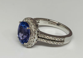 925 Sterling Silver Genuine Fine Quality Blue Sapphire And Cz Gemstone Handcraft image 3