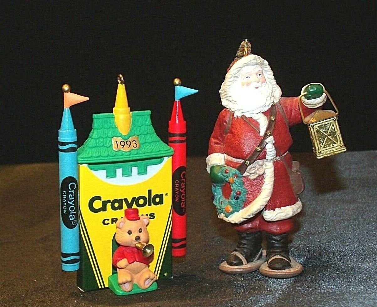 Hallmark Keepsake Ornaments Bright Shining Castle Crayola & Merry Olde Santa AA