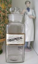 "RARE Glass Label Apothecary Bottle~LUG~10"" Tall~TROCH.POT.CHL~POTASSIUM ... - $445.49"