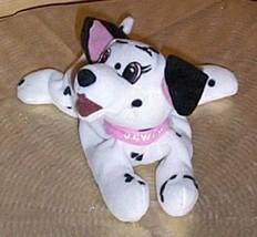 "Disney Dalmatians JEWEL Soft 7"" Plush Beans Pink Collar Puppy Dog - $5.39"