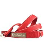 Saddle Stitch Red Grosgrain Dog Leash (120cm, 4ft.) / Made in Japan - $36.00