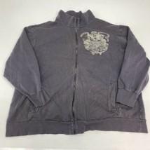 Ralph Lauren Polo Jeans Zip Up Jacket Men's 3XL XXXL Long Sleeve Gray Mock Neck - $18.95
