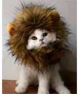 Lion Mane Wig Dog Cat Costume Washable Comfortable Adjustable Fancy Lion... - $16.05 CAD+